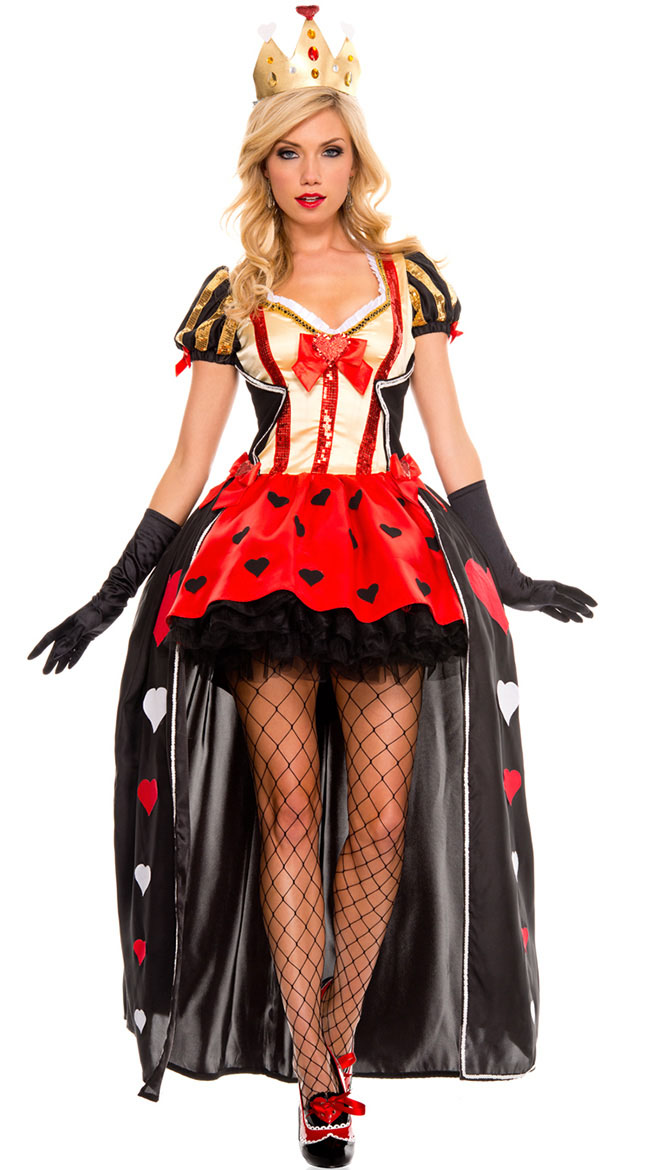 F1564 Luxurious Sequin Queen of Hearts costume