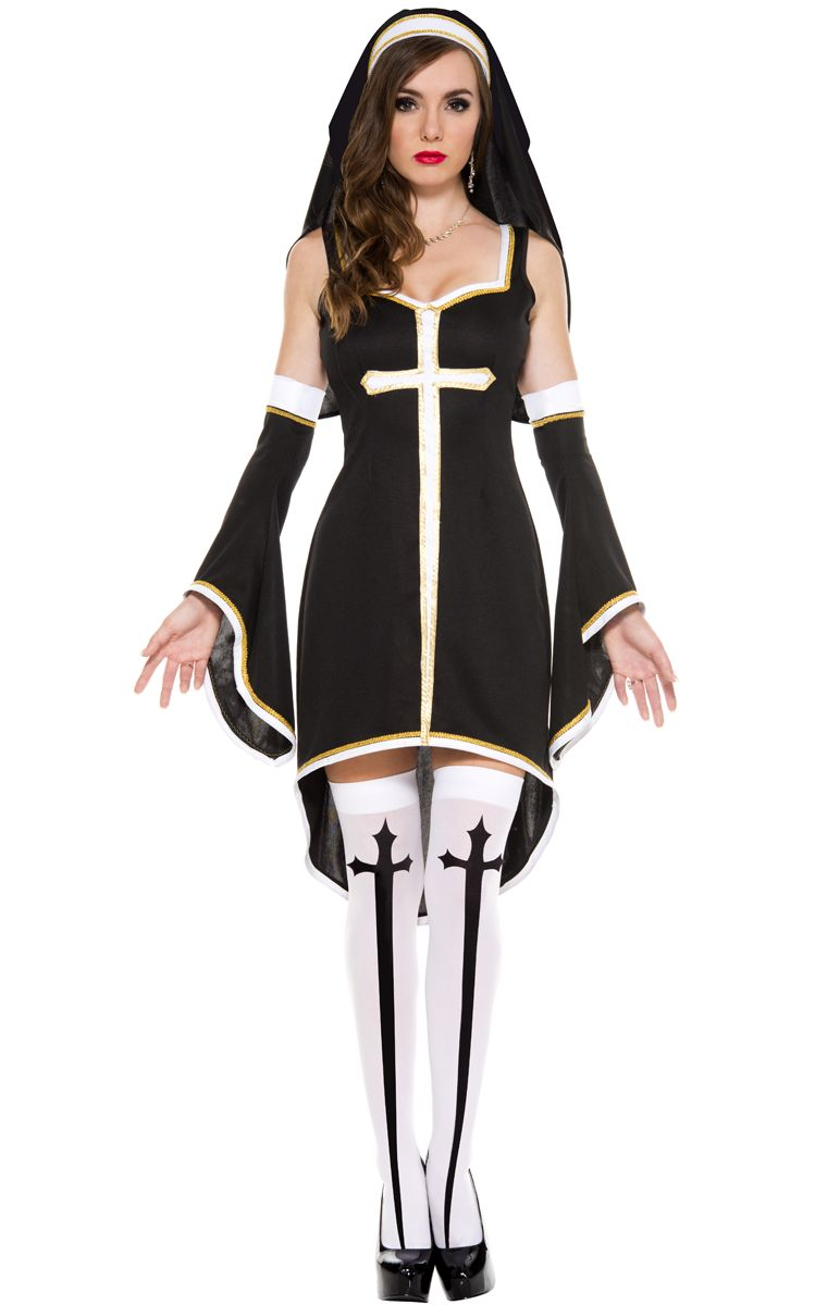 F1565 Women's Sinfully Hot Nun Costume