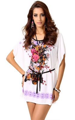 F56305 Women Chiffon Tunic Longshirt Womens Blouse Dresses