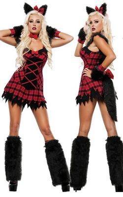 F66159 Womens Fox Furry Costume