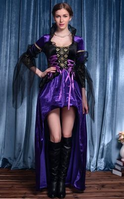 F66164 Purple Vintage Witch Queen Costume