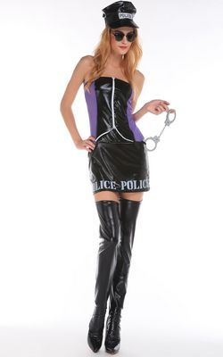 F66174 Sultry Naughty Officer Costume
