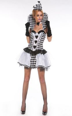 F66181 Black White Chess Queen Costume