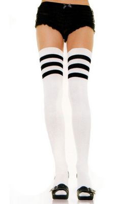 F8181 STRIPED ATHLETIC THIGH HIGHS