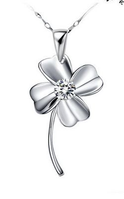 SS11012-2 S925 sterling silver  Clover necklace
