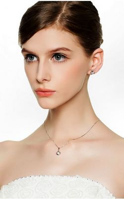 SS11013 S925 sterling silver necklace with popular Ms. clavicle chain pendant