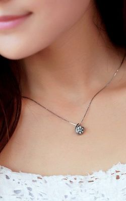 SS11018 S925 pure silver pendant Valentine necklace