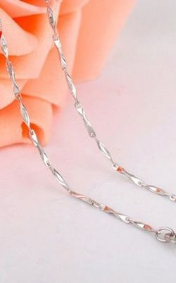 SS11028-8 S925 sterling silver necklace