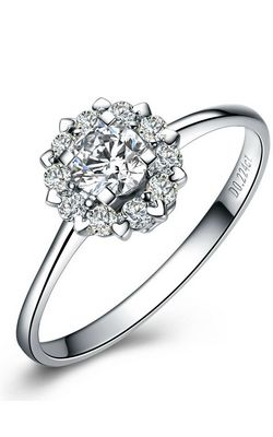 SS11041 S925 sterling silver dazzling diamond ring