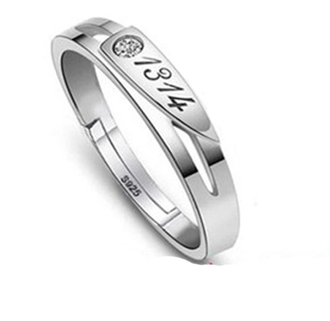 SS11051 S925 silver couple rings