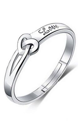 SS11053-2  Fashion opening couple rings  lovers to tie