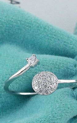SS11054-3 S925 sterling silver tail ring