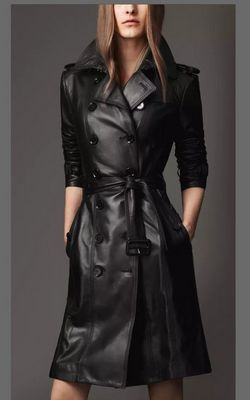 W24044 women  leather coat
