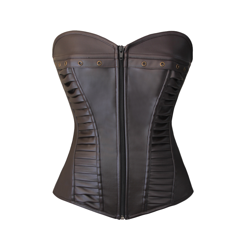 F9075-2 Top quality Corset with zipper front closure corset