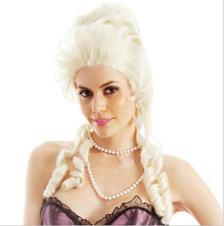 H034 Marie Antoinette  Blonde  Costume Wig  High Quality Fibre