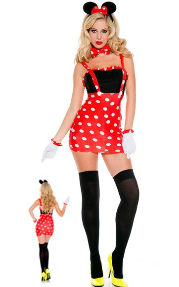 F1607 Sexy Darling Miss Minnie Mouse Costume