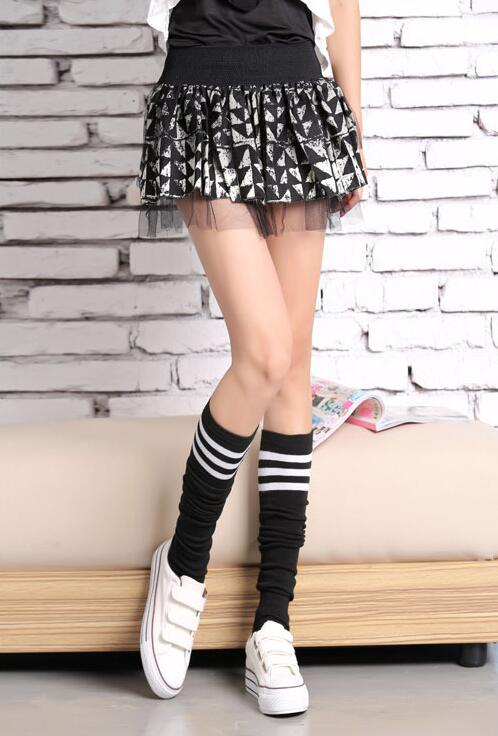F8182 Sailor Stripe Long Socks