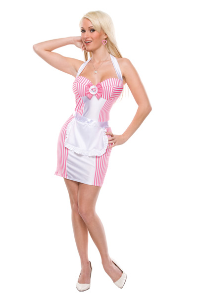 F1610 Sexy Candy Stripe Sweetie Costume
