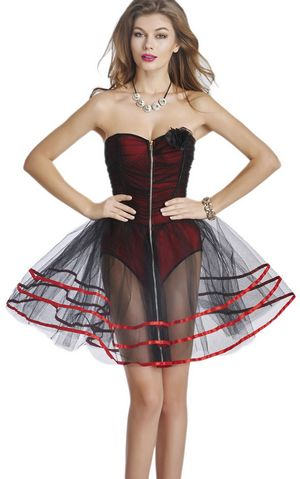 F3225 sexy corset with tutu skirt