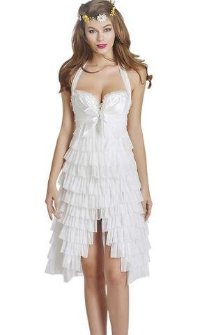 F3226-1 New Fashion Sexy Corset Overbust Mini Skirt Halloween Fancy Dresses