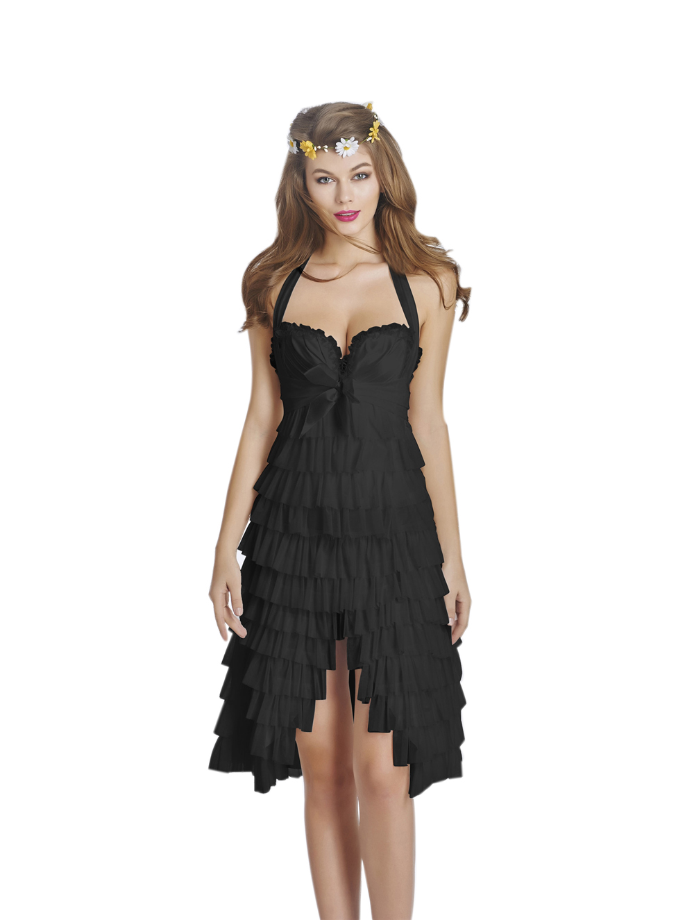 F3226-2 New Fashion Sexy Corset Overbust Mini Skirt Halloween Fancy Dresses
