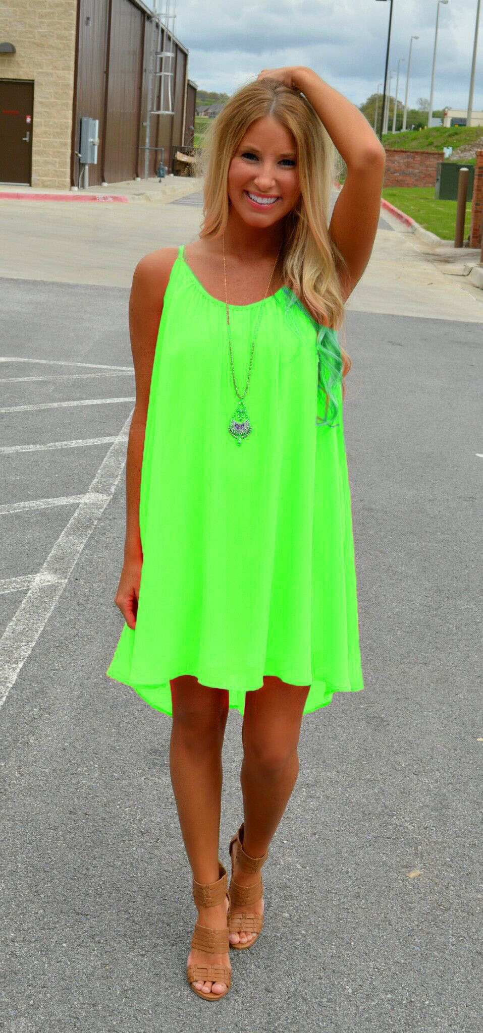F2485-2 WOMENS CHIFFON STRAPPY SLEEVELESS BEACH MINI LOOSE CASUAL DRESS