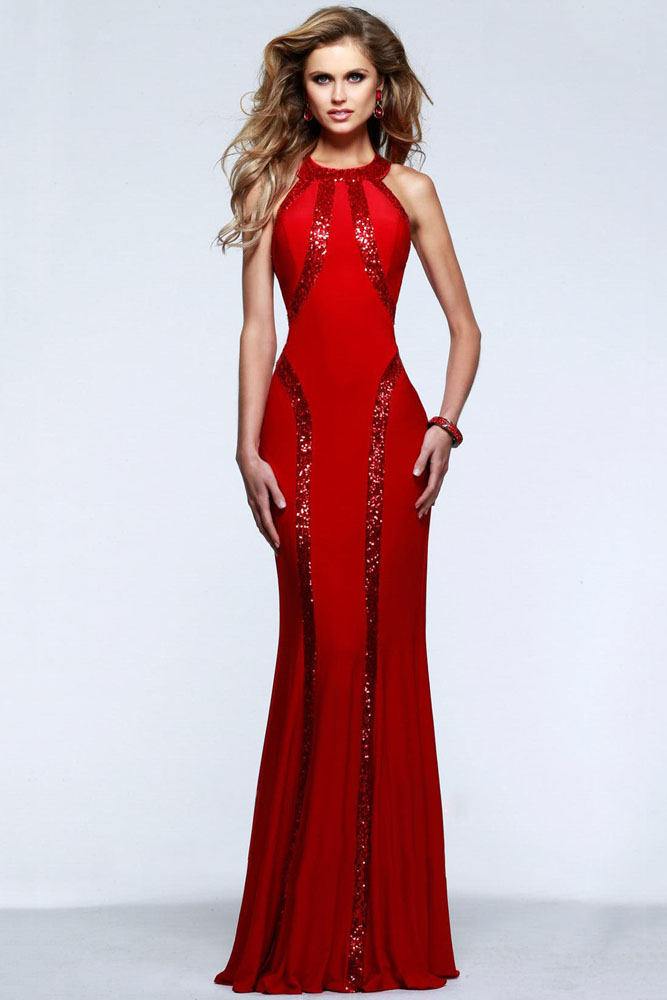 W25021 New Arrivals Sheath Floor-length Evening Dresses