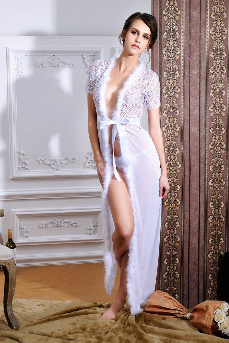 F5256-1 Sexy long nightshirts Image Latest Chinese Women Nighty