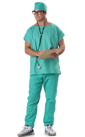 F1628 ADULT DOCTOR SCRUBS COSTUME