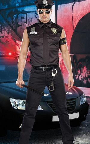 F1629 Dirty Cop Officer Ed Banger Halloween Costume