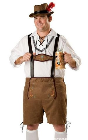 F1632 Elite mens Plus Oktoberfest Guy Costume