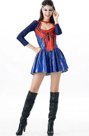 F1641 Deluxe Spider Girl Superhero Halloween Costume