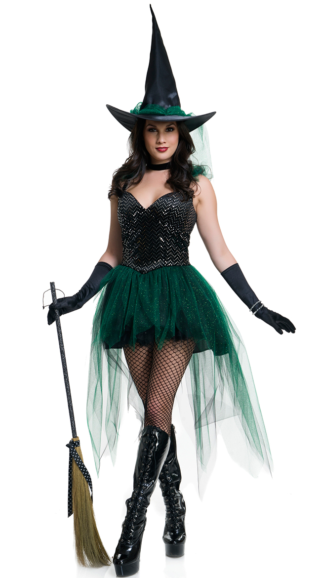 F1646 Emerald Witch Costume