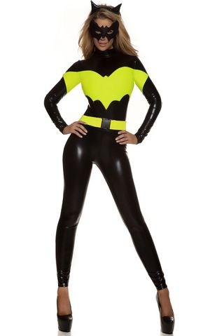 F1656 Darque Nights Sexy Superhero Women Halloween Costume