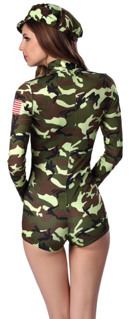 F1661 Sexy Hot Shorts Army Romper