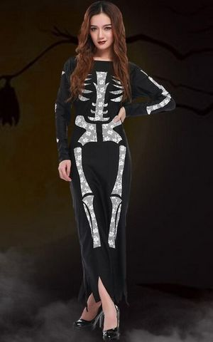 F1668 X-Ray Skeleton Catsuit Costume