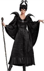 F1666Maleficent Deluxe Christening Black Gown Adult Plus Costume