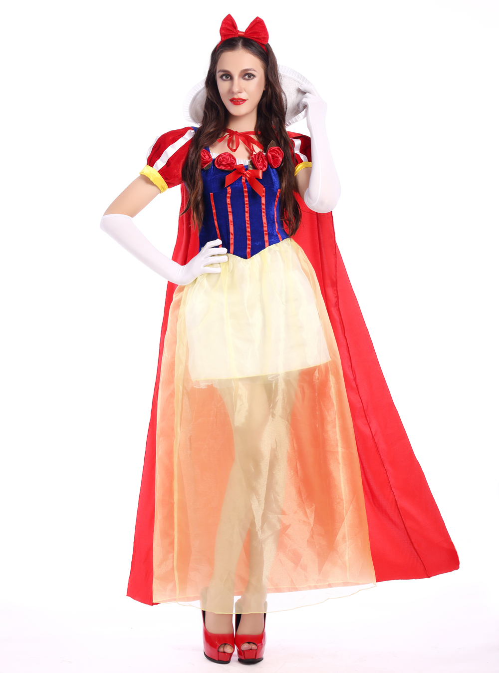 F1677 Sexy Adult White Fancy Dress Fashion Princess Costume For Women