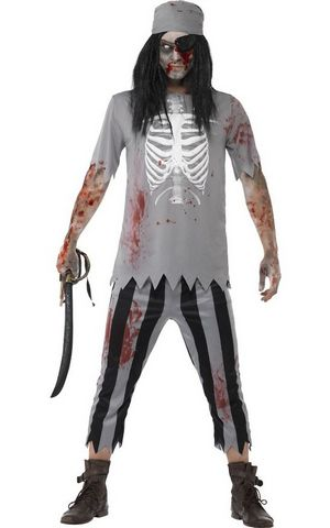 F1688 men pirate zombie costume