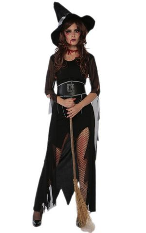 F1696 halloween witch costume,accessory:hat,belt