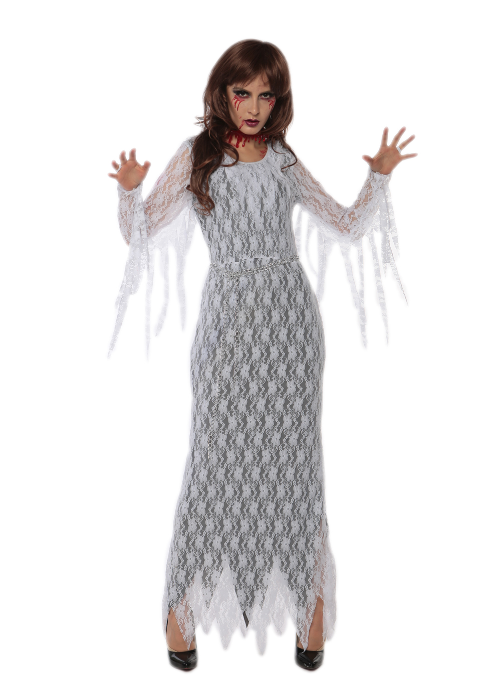 F1702 Horror zombie costume halloween blood ghost costume for women