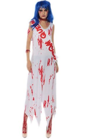 F1709 zombie Queen of Miss World costume,it comes with dress,shoulder belt