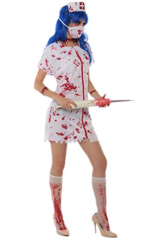 F1712 halloween zombie nurse costume,it comes with headwear,dress