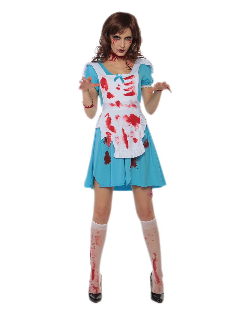 F1714 Halloween cospaly costume fashion fancy maid costume for women