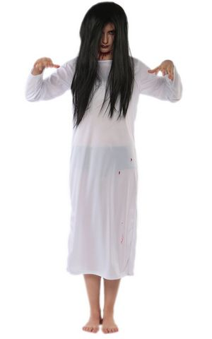 F1717-1 white Japanese scary movie Sadako costume