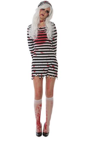 F1719 cosplay halloween infected prisoner costume,it comes with hat,dress