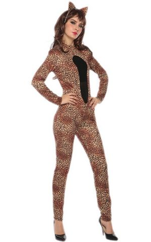 F1729 leopard cat costume