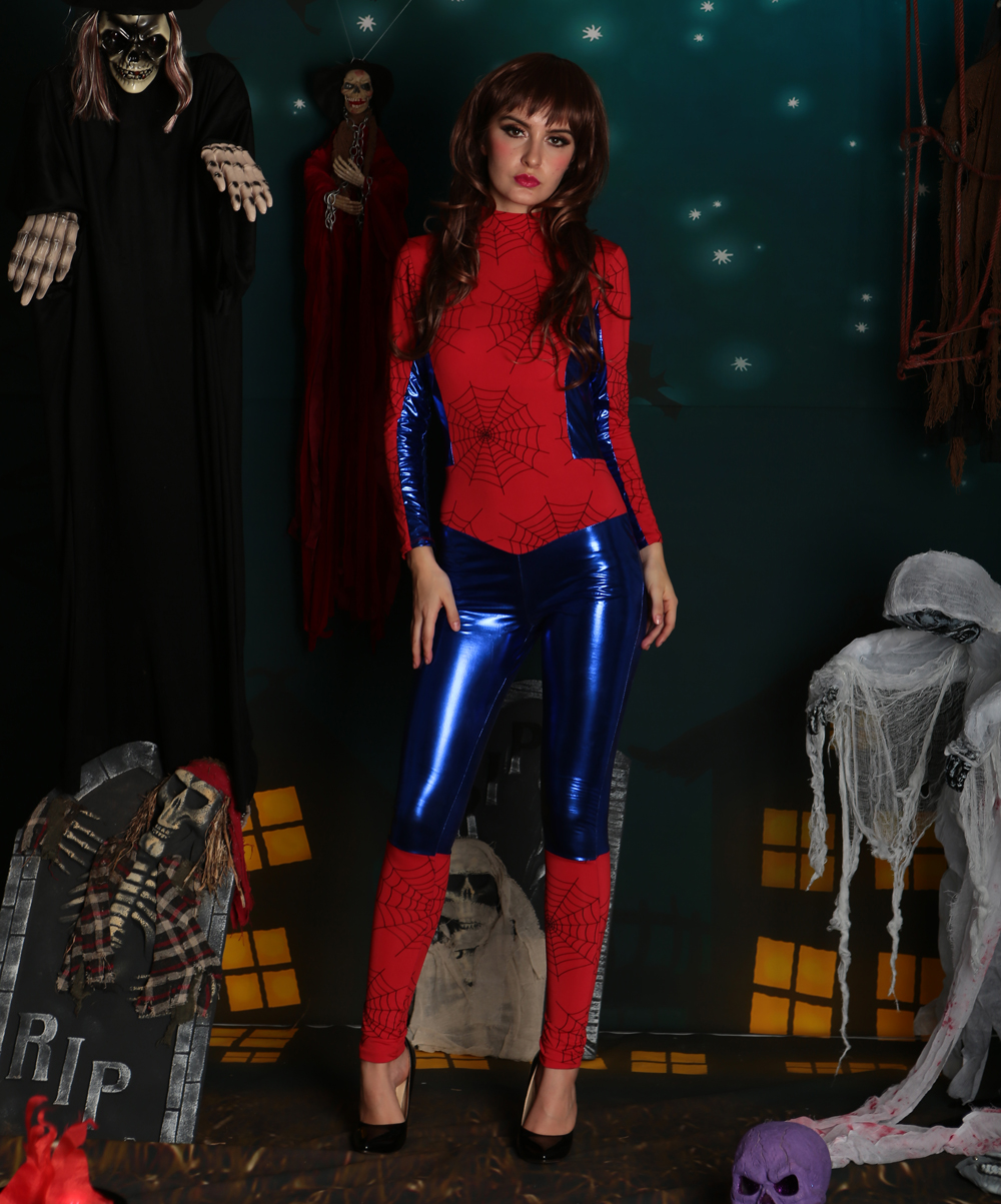 F1730 new arrival spiderwomen catsuit costume