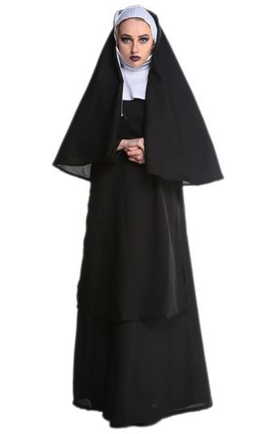 F1732 sexy hood nun costume,it comes with hood cape,dress