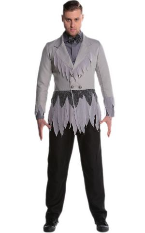 F1733 Halloween Infected Man Costume,it comes with coat,tshirt,tie,panty